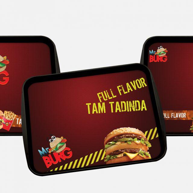 Mr Burger Tepsi Altı Reklam Çalışması