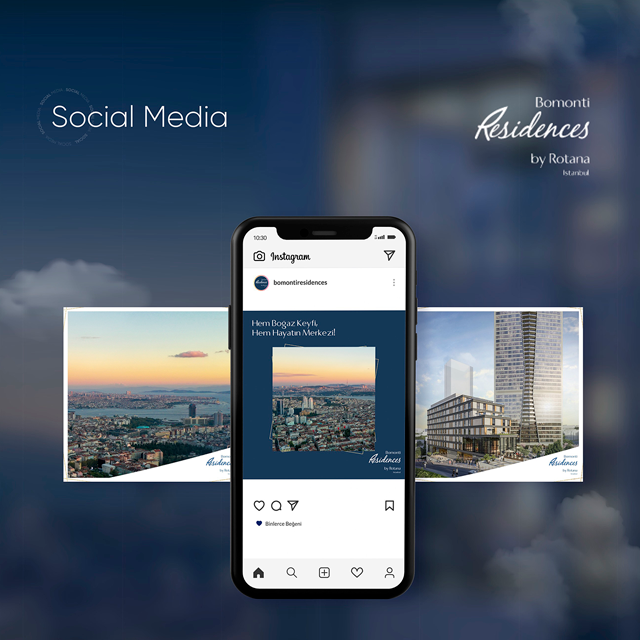 Bomonti Residences by Rotana Social Media