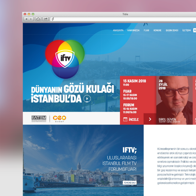 IFTV ULUSLARARASI İSTANBUL FİLM TV FORUM VE FUARI